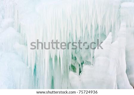 icicle closeup - stock photo