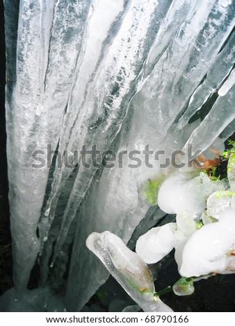Icicles, England. - stock photo