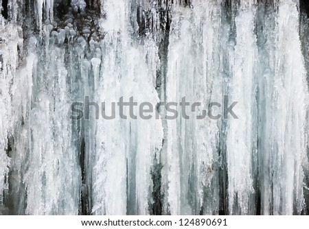 icicles winter waterfall