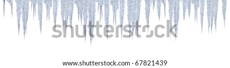 icicles with photoshop path click to copy for your project - stock photo