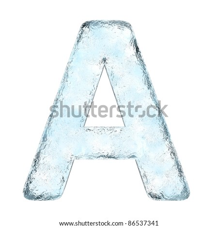 Icing alphabet the letter A (High definition isolated on white) - stock photo