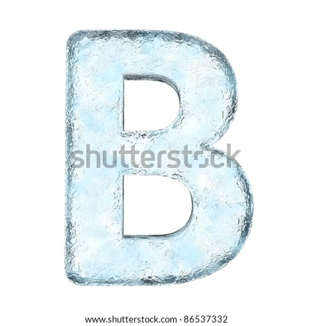 Icing alphabet the letter B (High definition isolated on white) - stock photo