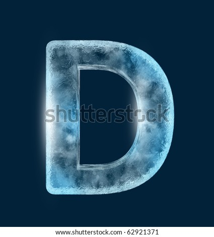Icing alphabet the letter D - stock photo