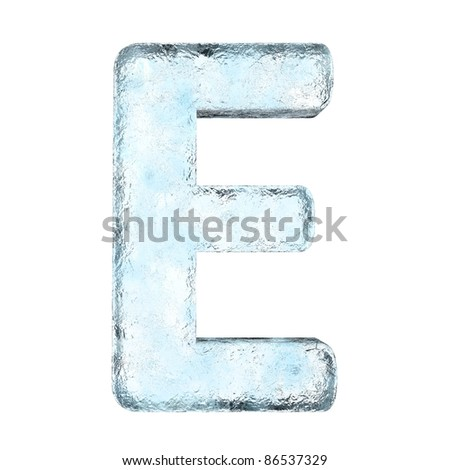 Icing alphabet the letter E (High definition isolated on white) - stock photo