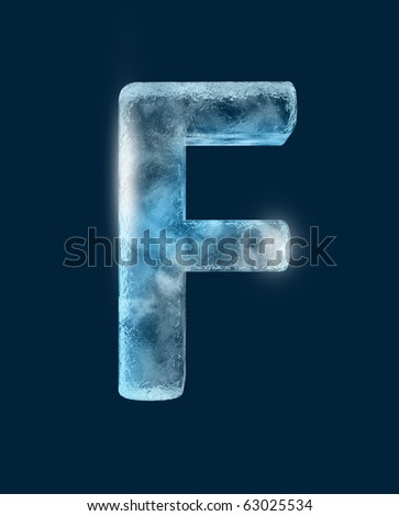 Icing alphabet the letter F - stock photo