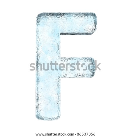 Icing alphabet the letter F (High definition isolated on white) - stock photo