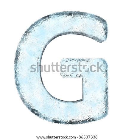 Icing alphabet the letter G (High definition isolated on white) - stock photo