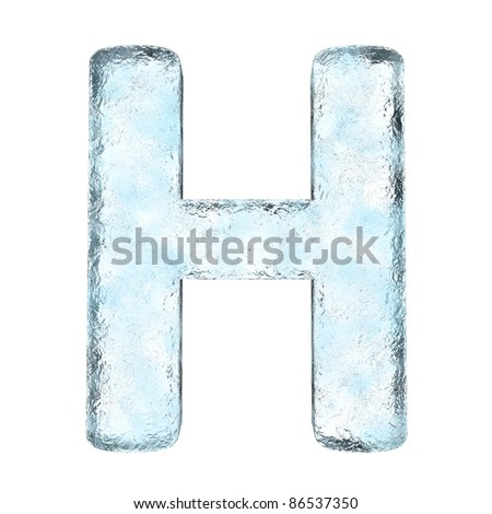 Icing alphabet the letter H (High definition isolated on white) - stock photo