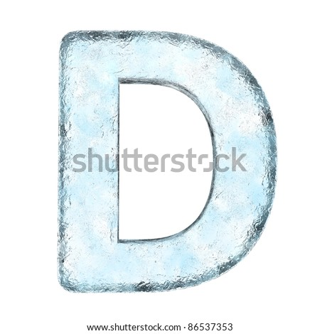 Icing alphabet the letter  (High definition isolated on white) - stock photo