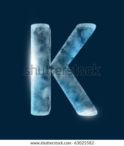 Icing alphabet the letter K - stock photo