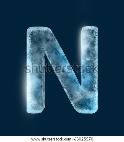 Icing alphabet the letter N - stock photo