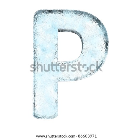 Icing alphabet the letter P (High definition isolated on white) - stock photo