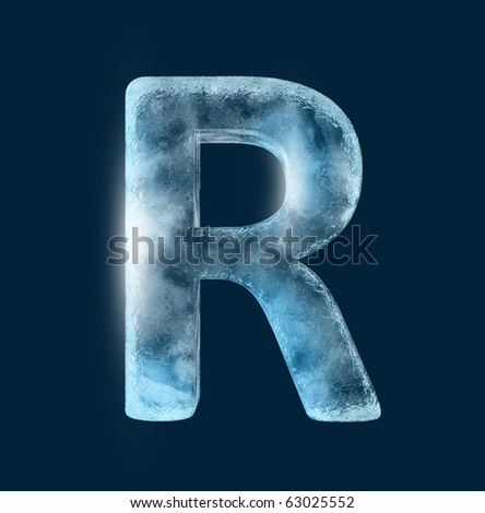 Icing alphabet the letter R - stock photo