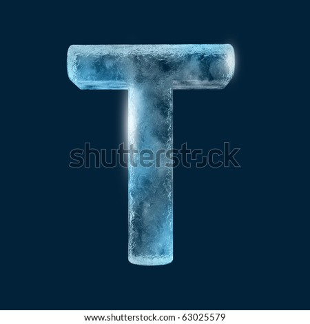Icing alphabet the letter T - stock photo