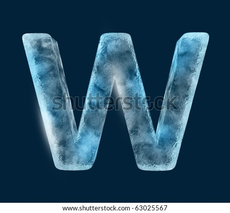 Icing alphabet the letter W - stock photo