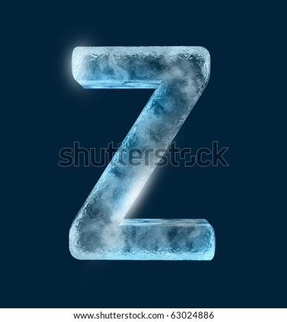 Icing alphabet the letter Z - stock photo