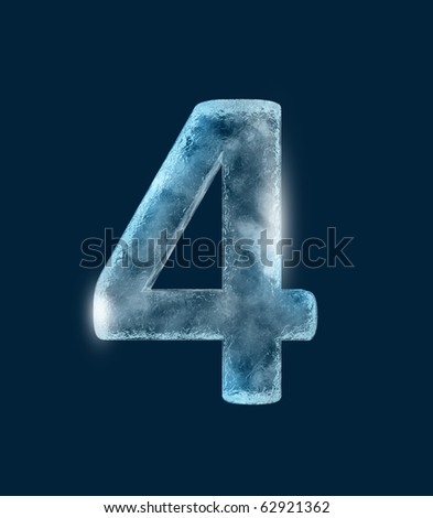 Icing alphabet the number 4 - stock photo