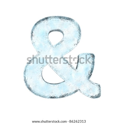 Icing alphabet the sign AND  (High definition isolated on white) - stock photo