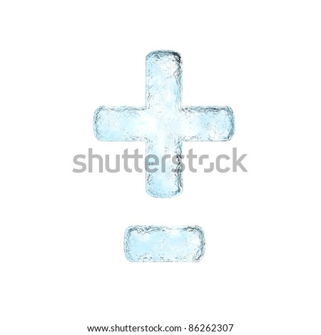 Icing alphabet the sign +-  (High definition isolated on white)