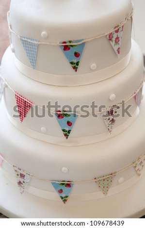 Icing on the wedding cake! - stock photo