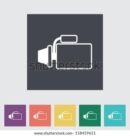 Icon automotive starter.  - stock photo
