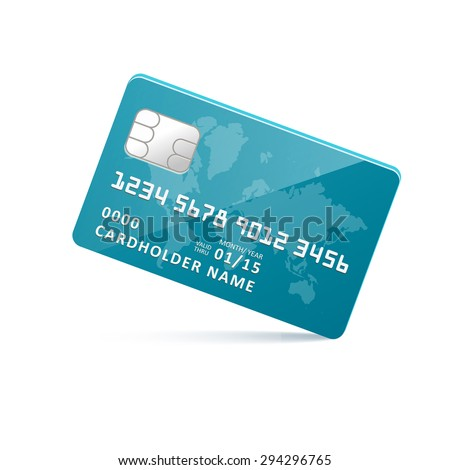icon blue earth credit card