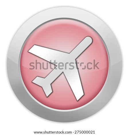Icon, Button, Pictogram with Airport symbol