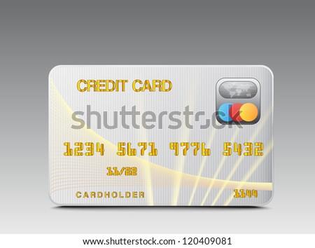 Icon credit card - stock photo