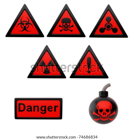 Icon depicting the hazard symbols on a white background.