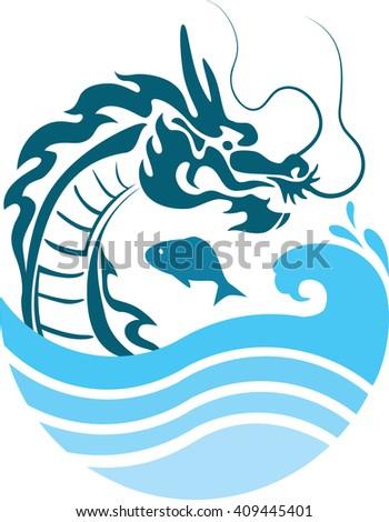 icon dragon - stock photo