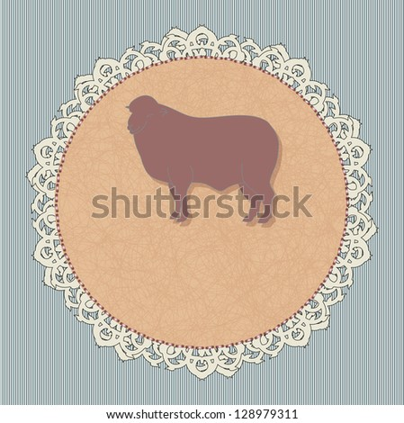 Icon for a restaurant - lamb. Rasterized version. - stock photo