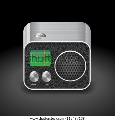 Icon for radio. Raster copy. Vector version also available.