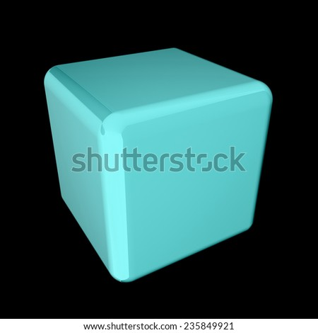 Icon, glossycube, abstract symbol
