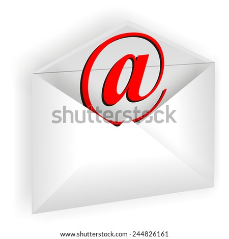 icon in the shape of the envelope for letters
