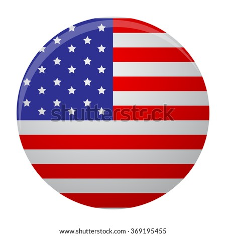 Icon label glossy usa round. Badge symbol, button america flag, national country. art abstract unusual fashion illustration - stock photo