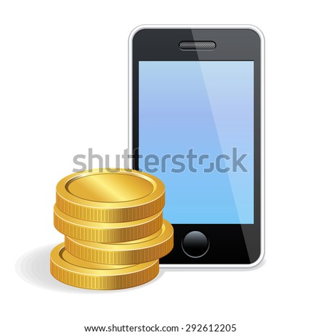 icon mobile payment - stock photo