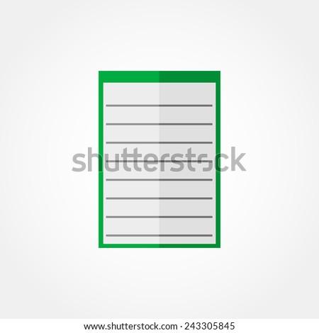 Icon notebook  - stock photo
