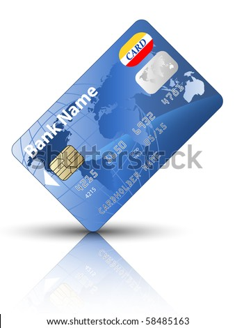 Icon of a credit card - stock photo