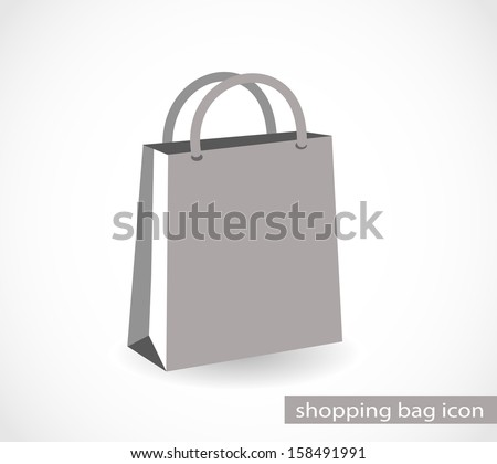 Icon of a grey paper bag