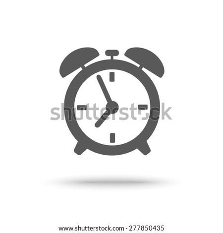 Icon of alarm clock isolated - stock photo