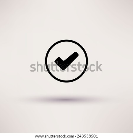 Icon of check box Isolated - stock photo