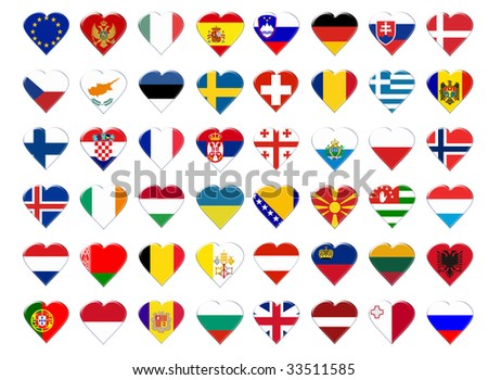 Icon of European flag. Illustration on white background