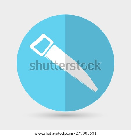 icon of hand saw - stock photo