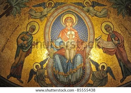 Icon of mosaic - stock photo