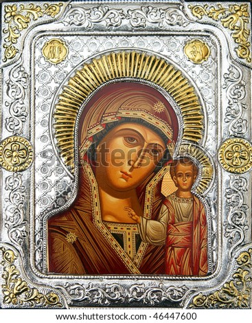 icon of Mother of God - stock photo