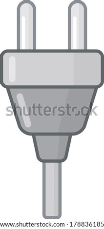 Icon of plug isolated over white background