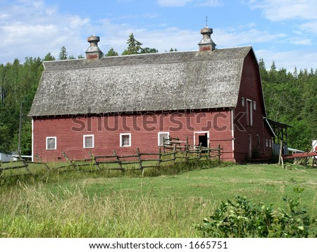 Icon of rural life the red barn