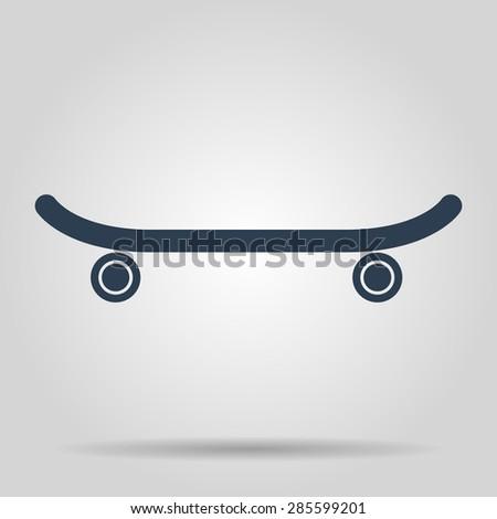 icon of skateboard.  - stock photo