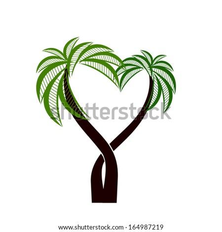 icon palms . Raster - stock photo