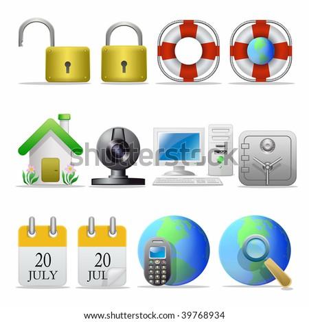 Icon set - stock photo
